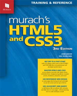 Murach's HTML5 and CSS3 (3rd Edition)